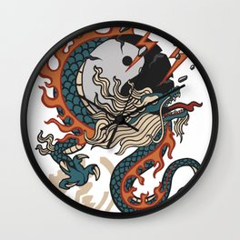 thunder dragon Wall Clock