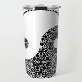 Perfect Balance 1 - Yin and Yang Stone Rock'd Art by Sharon Cummings Travel Mug