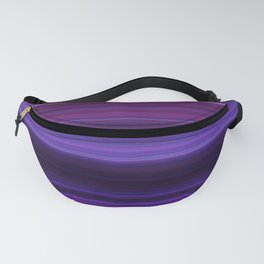 Abstract mixed stripes Purple Dark Fanny Pack