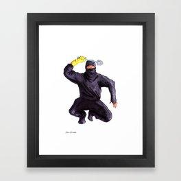 Bathroom Ninja Framed Art Print