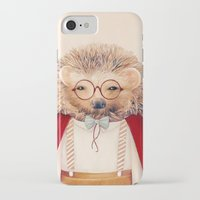 hedgehog iPhone & iPod Cases featuring Hedgehog by Animal Crew