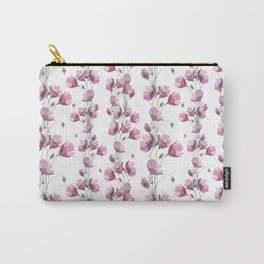 Pink Poppy with a Touch of Faux Gold Glitter Carry-All Pouch