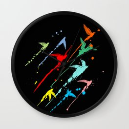 Flying colors Wall Clock