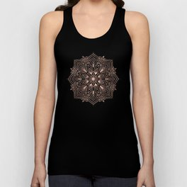 Mandala Rose Gold Quartz on Marble Unisex Tank Top