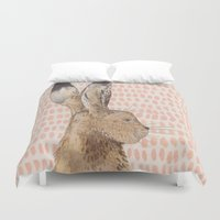 hare Duvet Covers featuring Hare by stephanie cole DESIGN