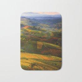 Tuscany, italian wineyards Bath Mat
