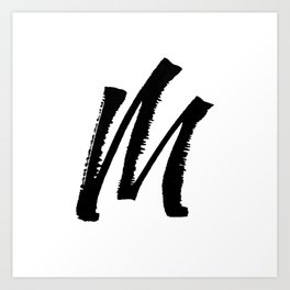 Letter M Ink Monogram Art Print
