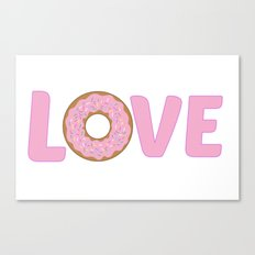 Love Donuts Canvas Print