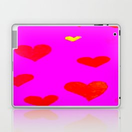 Red and Pink Falling Hearts Laptop & iPad Skin