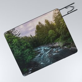 PNW River Run II - Pacific Northwest Nature Photography Picnic Blanket