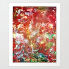 Enaustic Galaxy  Art Print