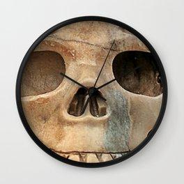 Picasso Stone Skull Wall Clock