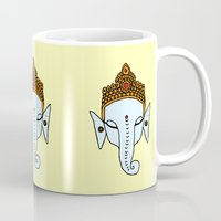 ganesha Mugs featuring Ganesha by RaJess