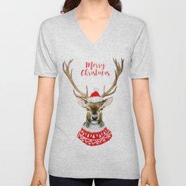 Christmas deer Unisex V-Neck