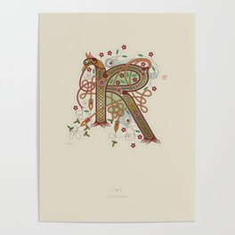 Celtic Initial R Poster