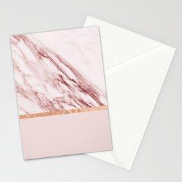 Alabaster rosa & rose gold on blush Stationery Cards