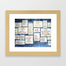 Wall of Wishes Framed Art Print