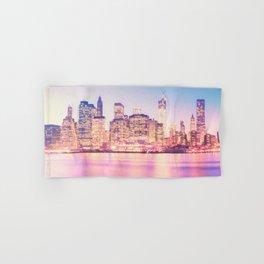 New York City Skyline - Lights Hand & Bath Towel