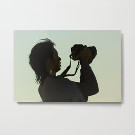 Girl with Camera  Metal Print