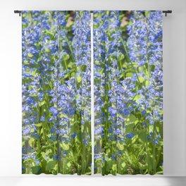 Wild blue flowers Blackout Curtain