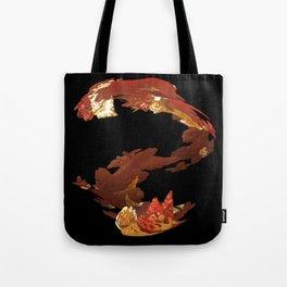 Spiral Flames Tote Bag