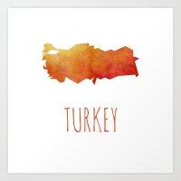 turkey Art Prints featuring Turkey by Stephanie Wittenburg