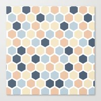 honeycomb Canvas Prints featuring Honeycomb by 603 Creative Studio