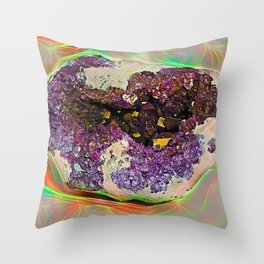 Druzes in the grey stone split half-and-half Throw Pillow