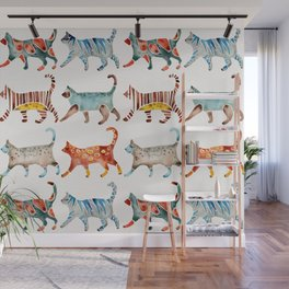 Cat Collection: Watercolor Wall Mural