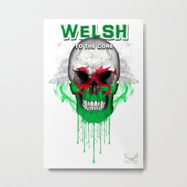 To The Core Collection: Wales Metal Print
