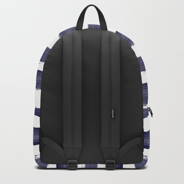 Blue- White- Stripe - Stripes - Marine - Maritime - Navy - Sea - Beach - Summer - Sailor 1 Backpack