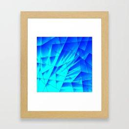 Bright sunshine on celestial and blue triangles of irregular shape. Framed Art Print
