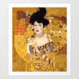 The golden Adele Art Print