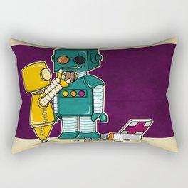 Robots on Friendship Rectangular Pillow