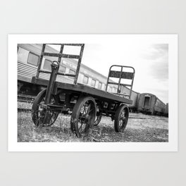 Let's carry through this journey B&W Art Print