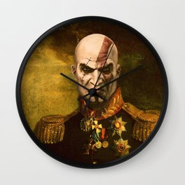 Kratos General Portrait Painting | god of war Fan Art Wall Clock