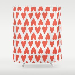 Shapes Nr. 4 - Red Hearts Shower Curtain