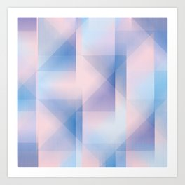 colour & shape Art Print
