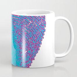 Pop art heart, Turquoise heart, Blue love art, Blue Heart print, Blue Heart graphic, Large heart Coffee Mug