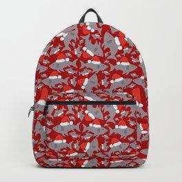 Santa Sharks Red Background Backpack