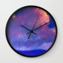 Sky Roses Wall Clock