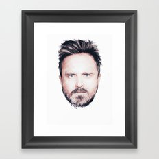 Aaron Paul Digital Portrait Framed Art Print