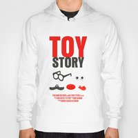 toy story Hoodies featuring Toy Story Movie Poster by FunnyFaceArt