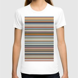Nordic Stripes Pattern Horizontal T-shirt