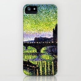The Louvre and Pont du Carrousel at Night by Maximilian Luce iPhone Case