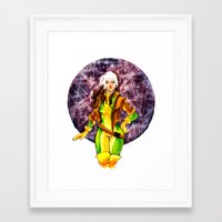 rogue Framed Art Prints featuring Rogue by Doodleholic