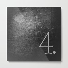 NUMBER 4 BLACK Metal Print