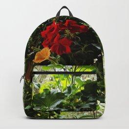 Geranium Basket - Floral Art Backpack