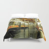 subway Duvet Covers featuring Subway by Bryan McKinney