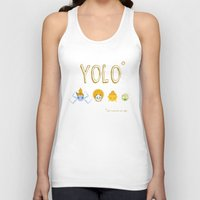 yolo Tank Tops featuring YOLO by Kathryn Hudson Illustrations